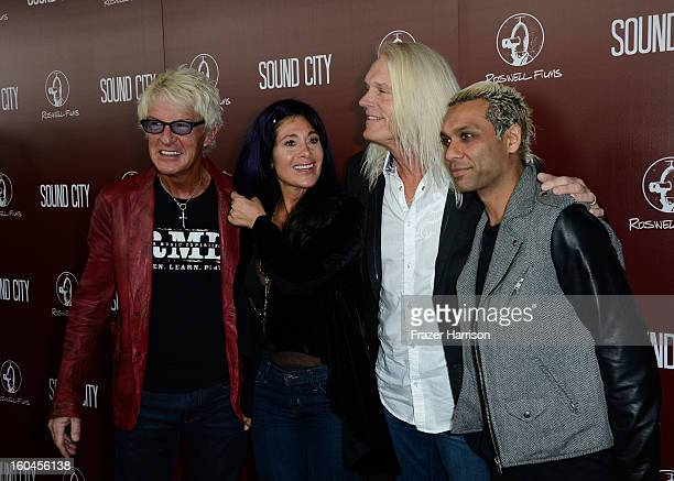 Musicians Kevin Cronin Lisa Cronin Bruce HallTony Kanal arrive at the Premiere Of Sound City at ArcLight Cinemas Cinerama Dome on January 31 2013 in...