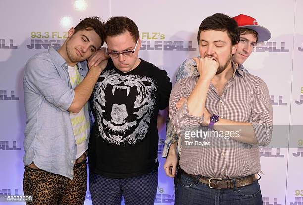 Musicians Kevin Ray, Sean Waugaman, Eli Maiman and Nicholas Petricca of Walk The Moon attend 93.3 FLZ's Jingle Ball 2012 at Tampa Bay Times Forum on...