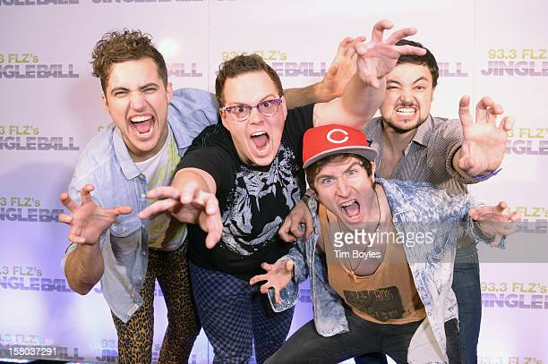 Musicians Kevin Ray, Sean Waugaman, Nicholas Petricca and Eli Maiman of Walk The Moon attend 93.3 FLZ's Jingle Ball 2012 at Tampa Bay Times Forum on...