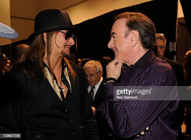 Musicians Kid Rock and Neil Diamond backstage at the 2009 MusiCares Person of the Year Tribute to Neil Diamond at the Los Angeles Convention Center...