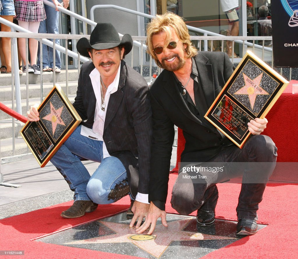 Country Music's Brooks & Dunn Honored With Star On Hollywood Walk of Fame : News Photo