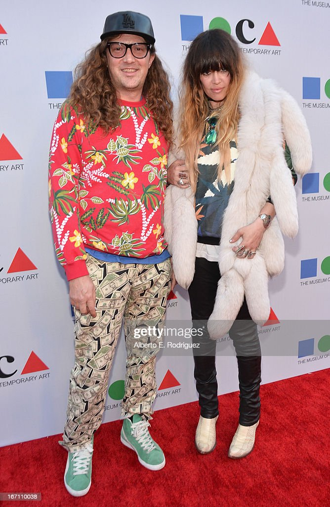 """Musicians Kurt Midness and Jennifer Herrema of Black Bananas attend """"Yesssss!"""" MOCA Gala 2013, Celebrating the Opening of the Exhibition Urs Fischer, at MOCA Grand Avenue and The Geffen Contemporary on April 20, 2013 in Los Angeles, California."""