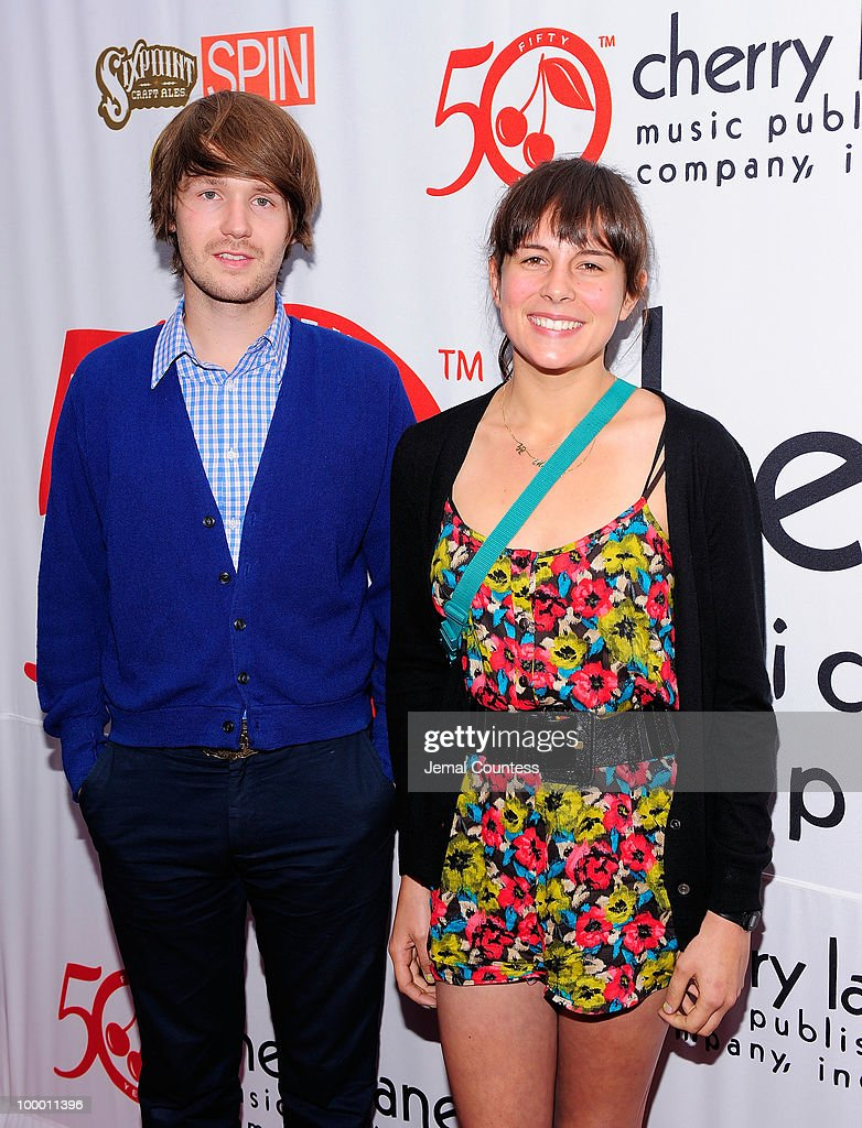 Musicians Kyle Ryan and Madi Diaz pose on the red carpet at the Cherry Lane Music Publishing's 50th Anniversary celebration at Brooklyn Bowl in Brooklyn on May 19, 2010 in New York City.