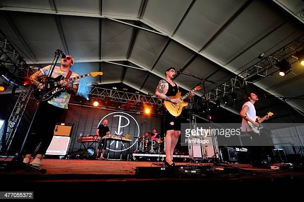 Musicians Kyle Sears Brandon Rush and band Priory perform onstage at This Tent during Day 3 of the 2015 Bonnaroo Music And Arts Festival on June 13...