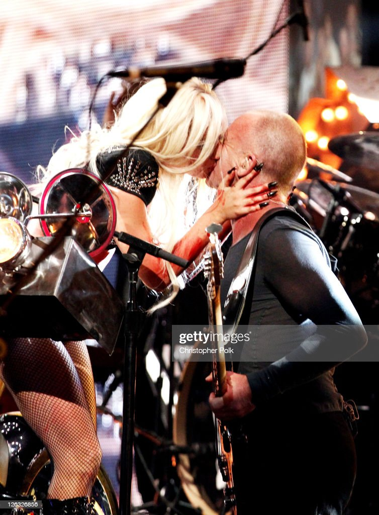 Musicians Lady Gaga and Sting perform onstage at the iHeartRadio Music Festival held at the MGM Grand Garden Arena on September 24, 2011 in Las Vegas, Nevada.