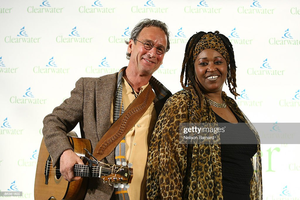 Musicians Larry Long and Scarlet Lee Moore attend the Clearwater Benefit Concert celebrating Pete Seeger's 90th Birthday at Madison Square Garden on May 3, 2009 in New York City.