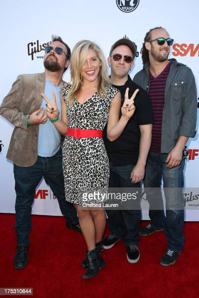 Musicians Lee Miles Carolyne Neuman Luke Thomas and Mett Gendal of Novi arrive at the 6th annual Sunset Strip Music Festival launch party honoring...
