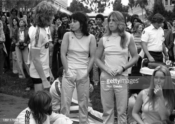 Musicians Leif Garrett and Joan Jett attend First Annual Rock and Roll Sports Classic on March 10 1978 at the University of California in Irvine...