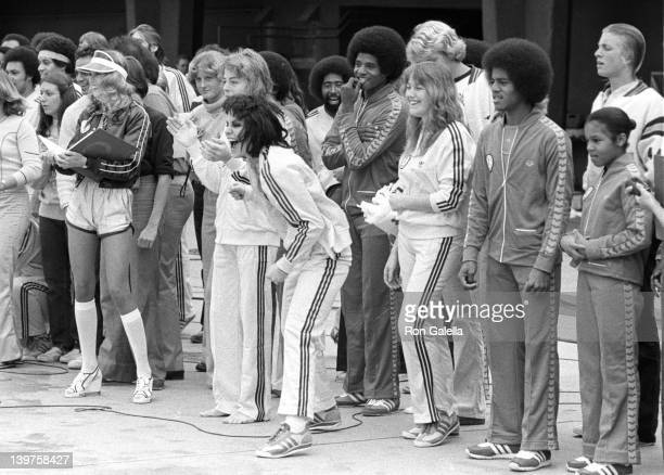 Musicians Leif Garrett Joan Jett Michael Jackson and Janet Jackson attend First Annual Rock and Roll Celebrity Sports Classic on March 10 1977 at the...