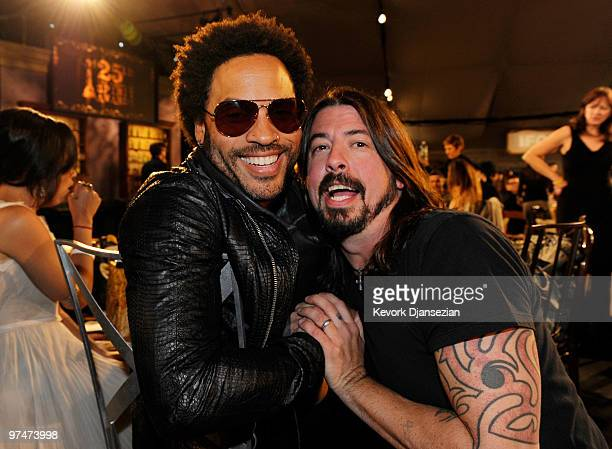Musicians Lenny Kravitz and Dave Grohl in the audience at the 25th Film Independent's Spirit Awards held at Nokia Event Deck at LA Live on March 5...