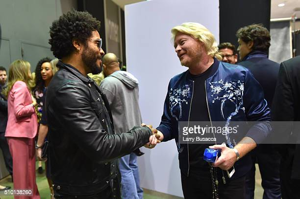 Musicians Lenny Kravitz and Phillip Sweet attend the 2016 MusiCares Person of the Year honoring Lionel Richie at the Los Angeles Convention Center on...