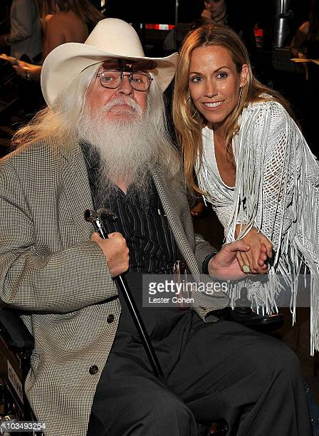 Musicians Leon Russell and Sheryl Crow backstage at the 2010 MusiCares Person Of The Year Tribute To Neil Young at the Los Angeles Convention Center...