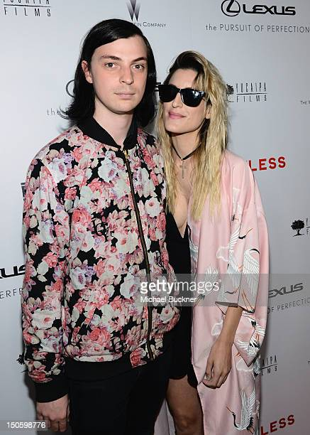 Musicians Leopold Ross and Ioanna Gika arrive at LAWLESS premiere in Los Angeles hosted By DeLeon and Presented by The Weinstein Company Revolt Films...