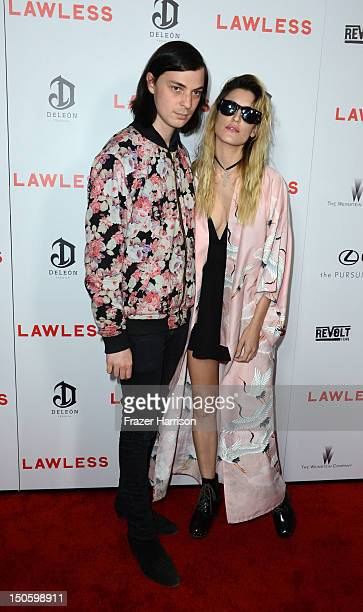 Musicians Leopold Ross and Ioanna Gika arrives at the Premiere of the Weinstein Company's Lawless at ArcLight Cinemas on August 22 2012 in Hollywood...