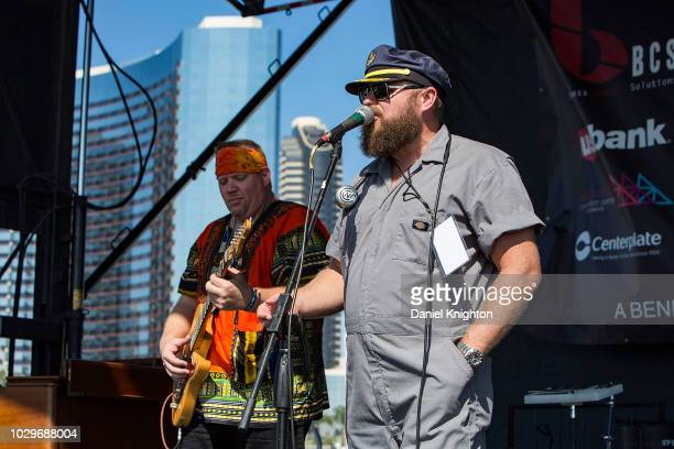Musicians Lightnin Malcolm performs on stage with John Nemeth The Blue Dreamers at Embarcadero Marina Park South on September 8 2018 in San Diego...
