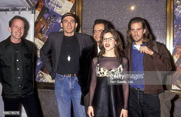 Musicians Lisa Loeb and The Nine Stories attend the 11th Annual MTV Video Music Awards on September 8 1994 at Radio City Music Hall in New York City...