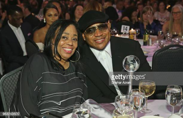 Musicians LL Cool J and his mother Ondrea Smith attend the 2018 We Are Family Foundation Celebration Gala at Hammerstein Ballroom on April 27 2018 in...