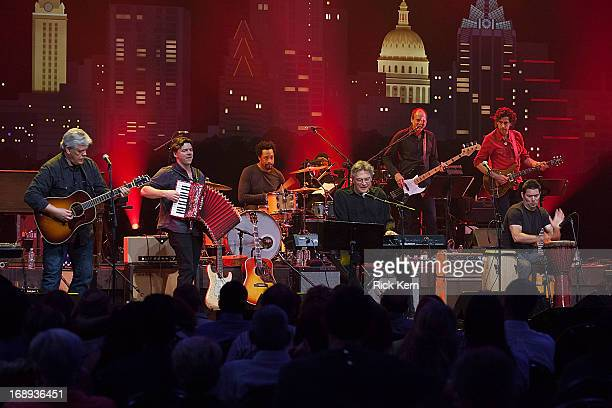 Musicians Lloyd Maines and Terry Allen perform in concert during the KLRU All-Star Celebration at ACL Live on May 16, 2013 in Austin, Texas.