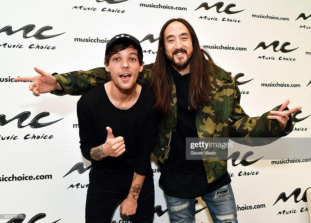 Steve Aoki & Louie Tomilson Visit Music Choice