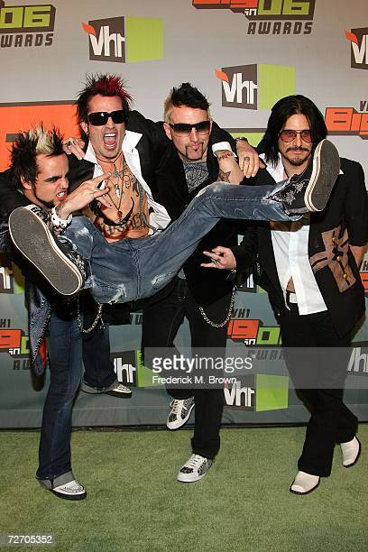 Musicians Lukas Rossi Tommy lee Jason Newsted and Gillby Clarke arrive to the VH1 Big in '06 Awards held at Sony Studios on December 2 2006 in Culver...