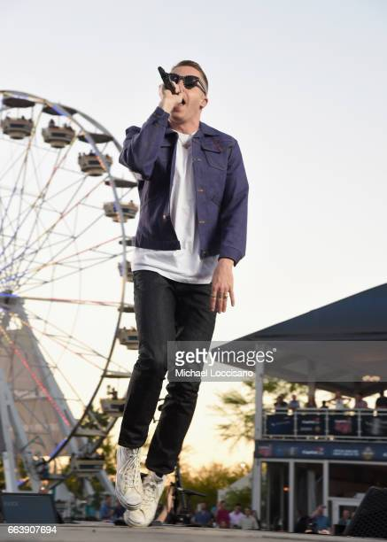 Musicians Macklemore and Ryan Lewis perform at the Capital One JamFest during the NCAA March Madness Music Festival 2017 on April 2 2017 in Phoenix...
