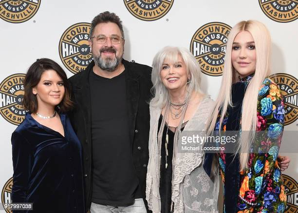 Musicians Maren Morris Vince Gill Emmylou Harris and Kesha attend the Country Music Hall of Fame and Museum's 'All for the Hall' Benefit on February...