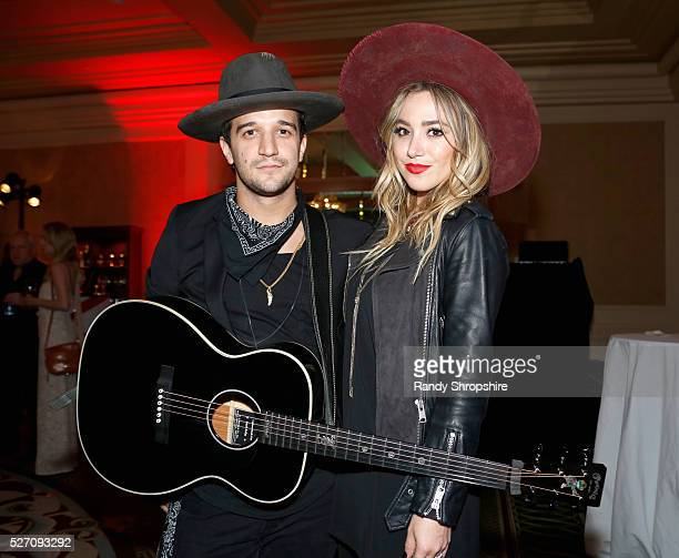 Musicians Mark Ballas and BC Jean of Alexander Jean attend BritWeek's 10th Anniversary VIP Reception Gala at Fairmont Hotel on May 1 2016 in Los...