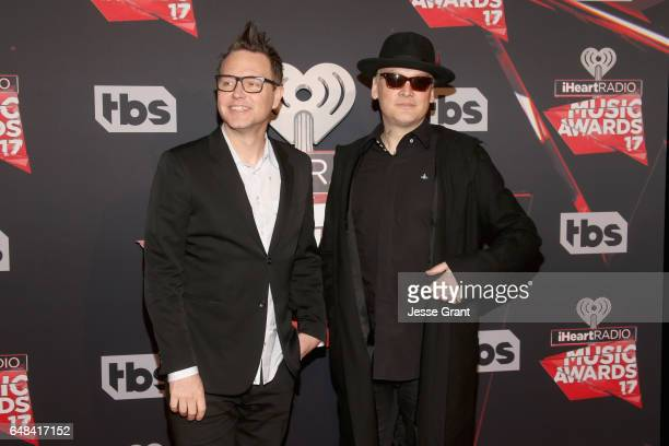 Musicians Mark Hoppus and Matt Skiba of music group blink182 attend the 2017 iHeartRadio Music Awards which broadcast live on Turner's TBS TNT and...