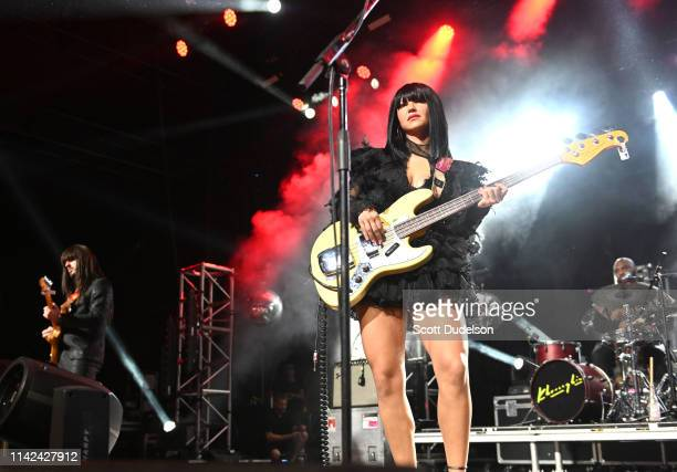 Musicians Mark Speer and Laura Lee of Khruangbin perform onstage during Weekend 1, Day 1 of the 2019 Coachella Valley Music and Arts Festival on...