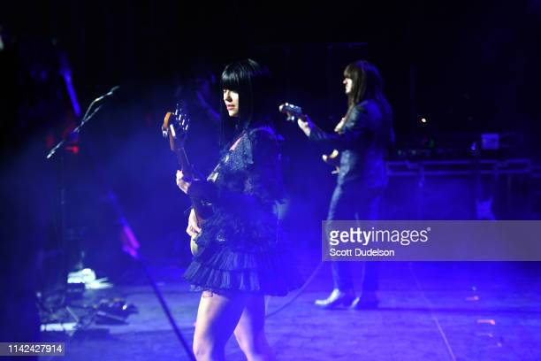 Musicians Mark Speer and Laura Lee of Khruangbin perform onstage during Weekend 1 Day 1 of the 2019 Coachella Valley Music and Arts Festival on April...