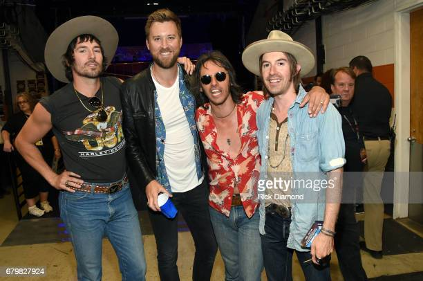 Musicians Mark Wystrach Charles Kelley Cameron Duddy and Jess Carson attend the 2017 iHeartCountry Festival A Music Experience by ATT at The Frank...