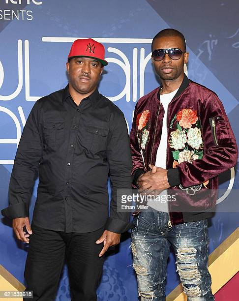 Musicians Markell Riley and Aqil Davidson of WreckxnEffect attend the 2016 Soul Train Music Awards at the Orleans Arena on November 6 2016 in Las...