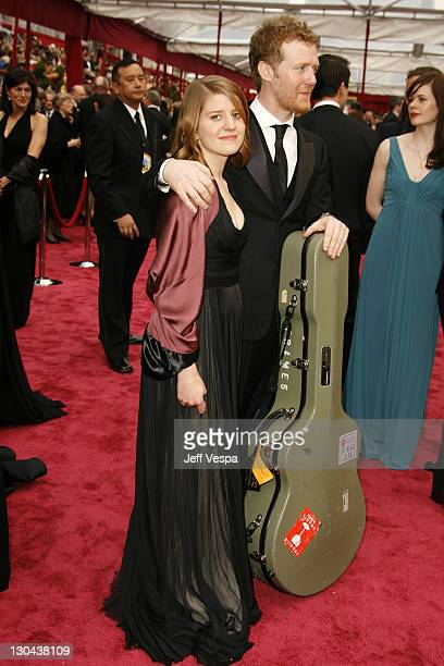 Musicians Marketa Irglova and Glen Hansard attend the 80th Annual Academy Awards at the Kodak Theatre on February 24 2008 in Los Angeles California