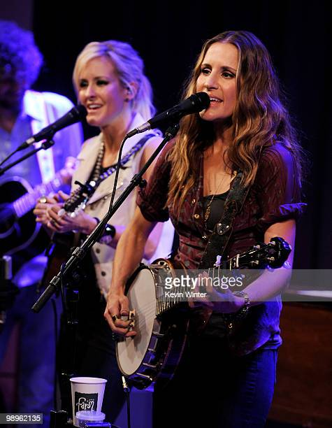 Musicians Martie Maguire and Emily Robison of the Court Yard Hounds answer questions from fans and perform at The GRAMMY Museum on May 10 2010 in Los...