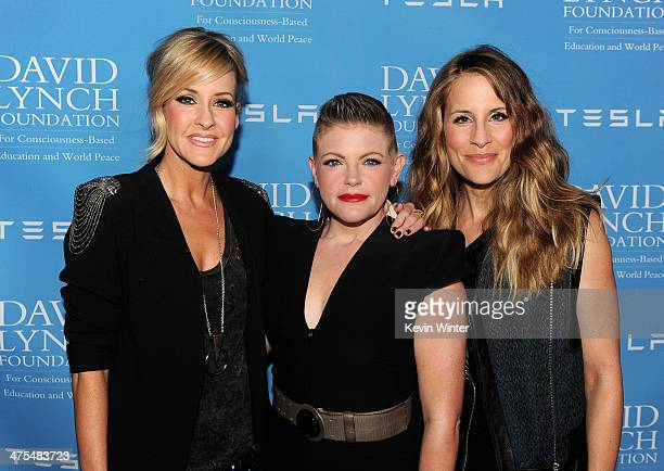 Musicians Martie Maguire Natalie Maines and Emily Robison of the Dixie Chicks arrive at the David Lynch Foundation Gala Honoring Rick Rubin at the...