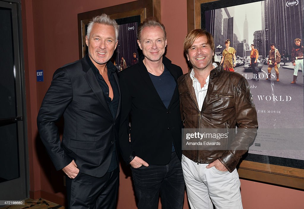 Musicians Martin Kemp, Gary Kemp and Steve Norman of Spandau Ballet attend the premiere of 'Soul Boys Of The Western World: Spandau Ballet' at the Sundance Cinema on May 4, 2015 in Los Angeles, California.
