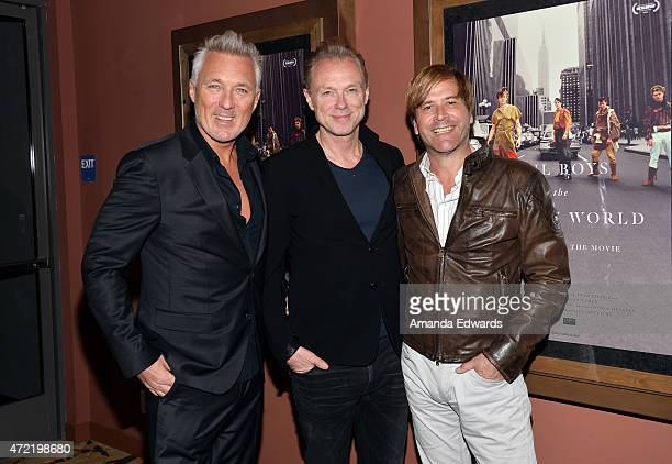 Musicians Martin Kemp Gary Kemp and Steve Norman of Spandau Ballet attend the premiere of 'Soul Boys Of The Western World Spandau Ballet' at the...