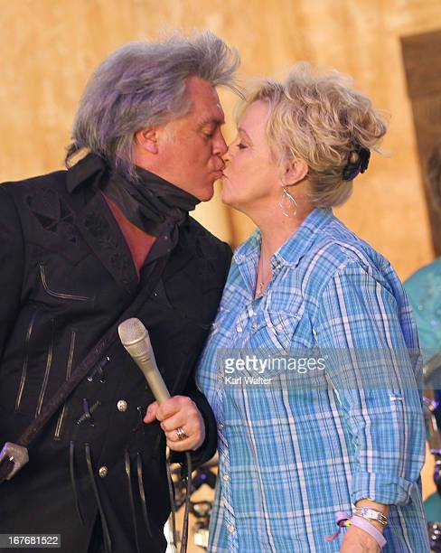 Musicians Marty Stuart and Connie Smith perform onstage during 2013 Stagecoach California's Country Music Festival held at The Empire Polo Club on...