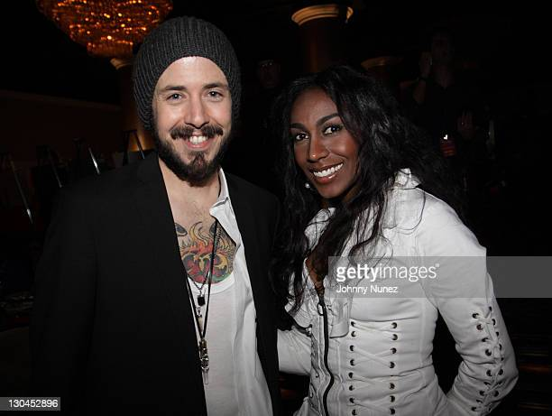 Musicians Matt Morris and Shanie Annie attend the 11th Annual Uniting Nations Awards viewing and dinner after party at The Beverly Hilton hotel on...