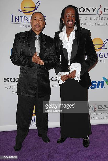 Musicians Maurice White and Verdine White of Earth Wind Fire attends the 2008 Clive Davis PreGRAMMY party at the Beverly Hilton Hotel on February 9...