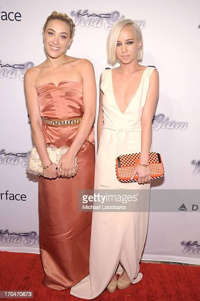 Musicians Mia Moretti and Caitlin Moe attend the 4th Annual amfAR Inspiration Gala New York at The Plaza Hotel on June 13 2013 in New York City