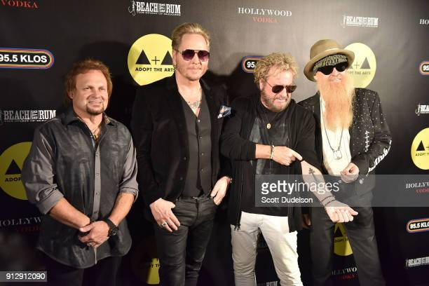Musicians Michael Anthony Matt Sorum Sammy Hagar and Billy Gibbons attend the Adopt the Arts annual rock gala at Avalon Hollywood on January 31 2018...