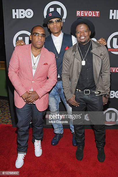 Musicians Michael Bivins Ronnie DeVoe and Ricky Bell of the group Bell Biv DeVoe attend the 20th Annual Urbanworld Film Festival The New Edition...
