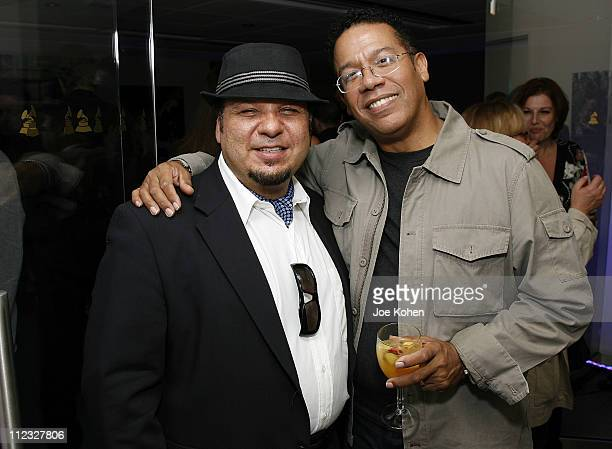 Musicians Michael Castaldo and Carlos Alomar attend the New York Chapter of the National Academy of Recording Arts and Sciences Open House Reception...