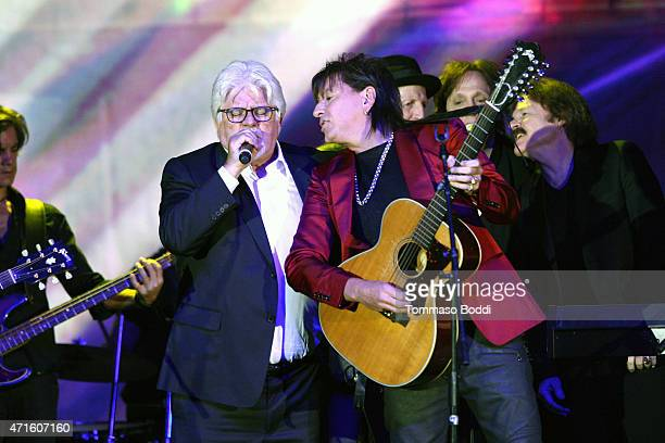 Musicians Michael McDonald and Richie Sambora perform with The Doobie Brothers on stage during the 32nd annual ASCAP Pop Music Awards held at Lowes...