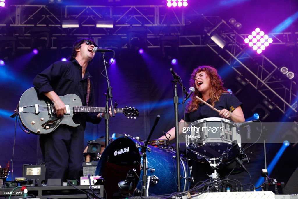 Musicians Michael Trent (L) and Cary Ann Hearst of Shovels & Rope perform on the Sutro Stage during the 2017 Outside Lands Music And Arts Festival at Golden Gate Park on August 11, 2017 in San Francisco, California.