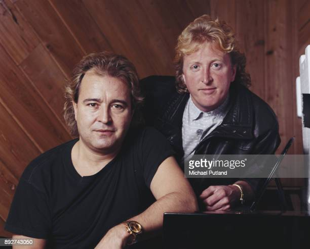 Musicians Mick Jones and Rick Wills of rock band Foreigner 1985