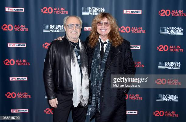 Musicians Mick Jones of Foreigner and David Coverdale of Whitesnake attend Live Nation's celebration of the 4th annual National Concert Week at Live...