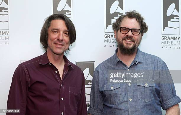 Musicians Mike Cooley and Patterson Hood of DriveBy Truckers at Spotlight DriveBy Truckers at The GRAMMY Museum on April 29 2014 in Los Angeles...