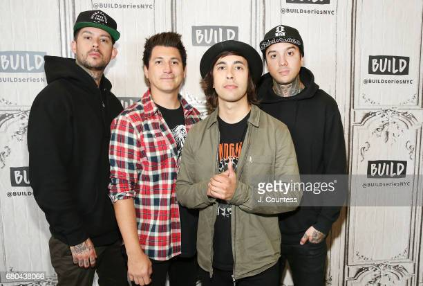 Musicians Mike Fuentes Jamie Preciado Vic Fuentes and Tony Perry of the band Pierce The Veil attend the Build Series to Discuss The Band's New Tour...